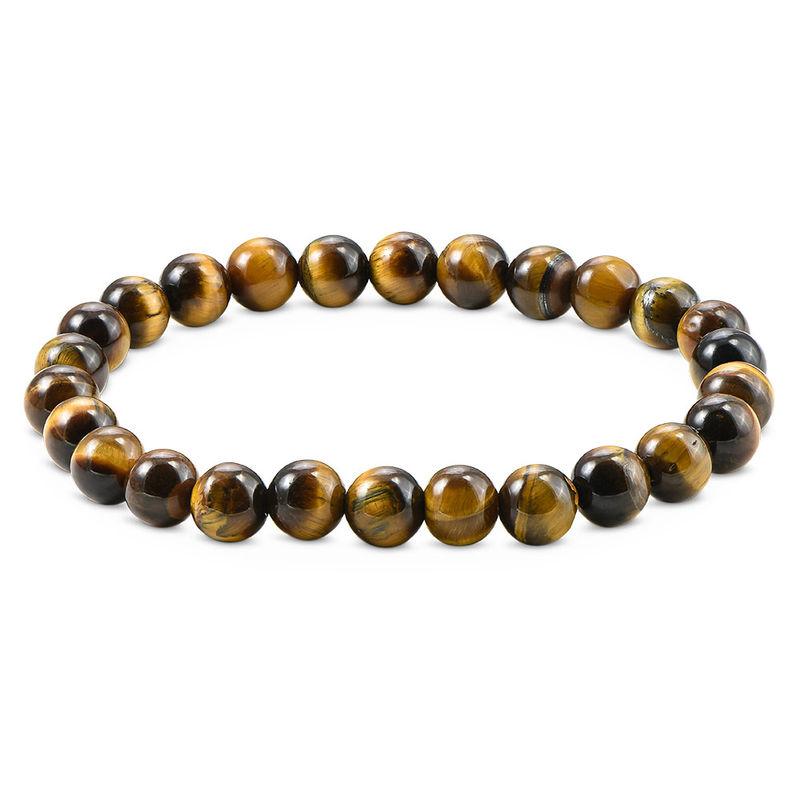 Perlen-Tigerauge-Armband für Herren