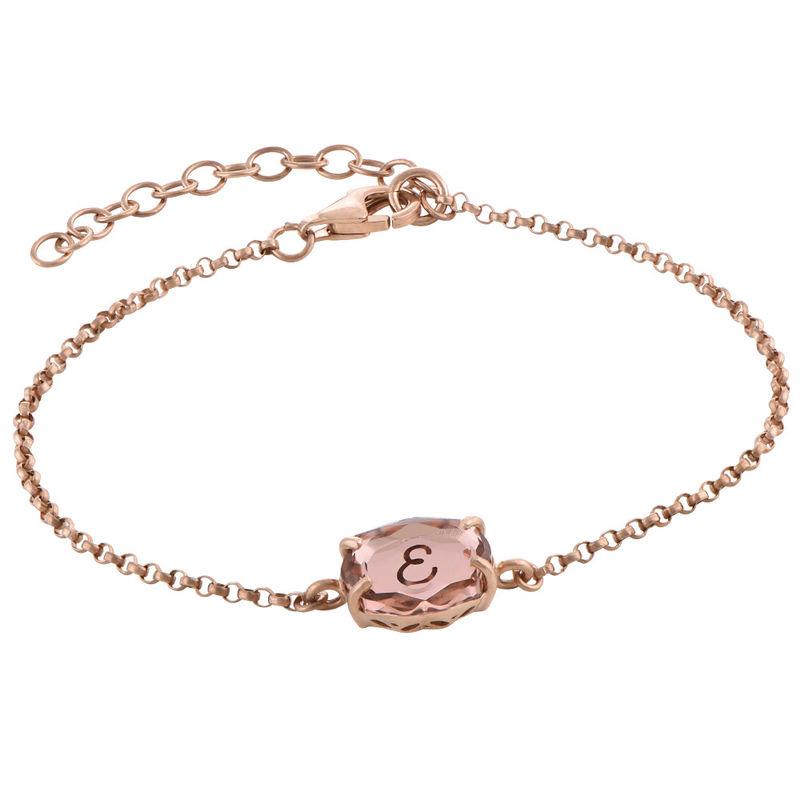 Gravierbares Armband mit Swarovski-Stein und Roségold-Beschichtung - 2