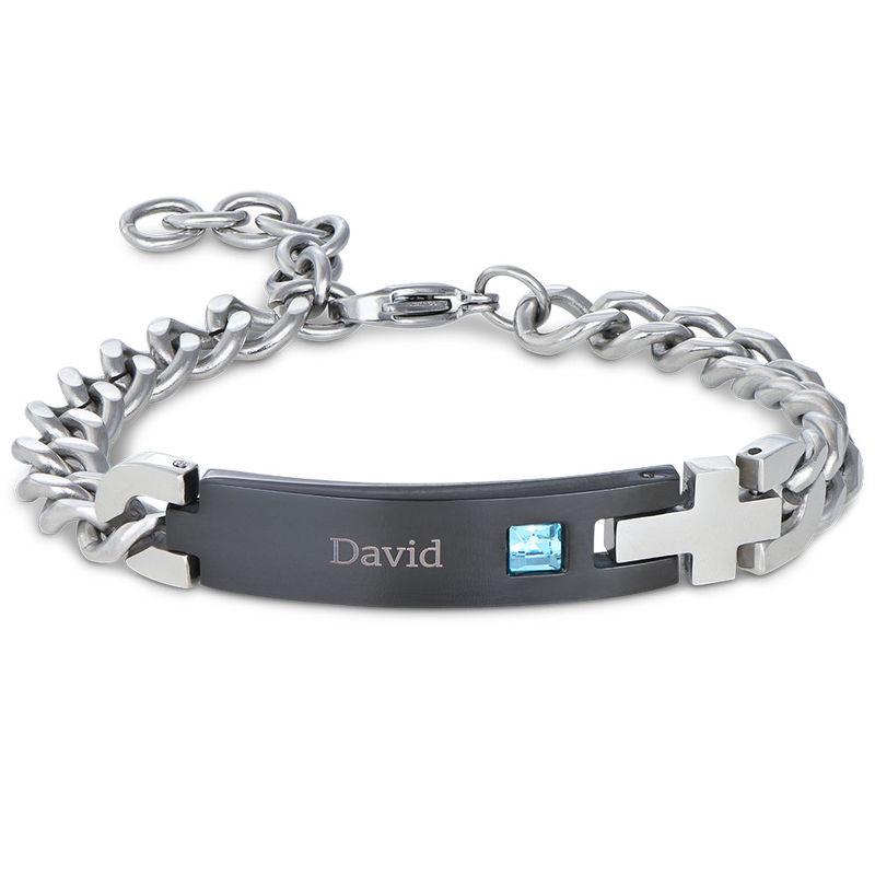 Herren-ID-Armband aus Edelstahl