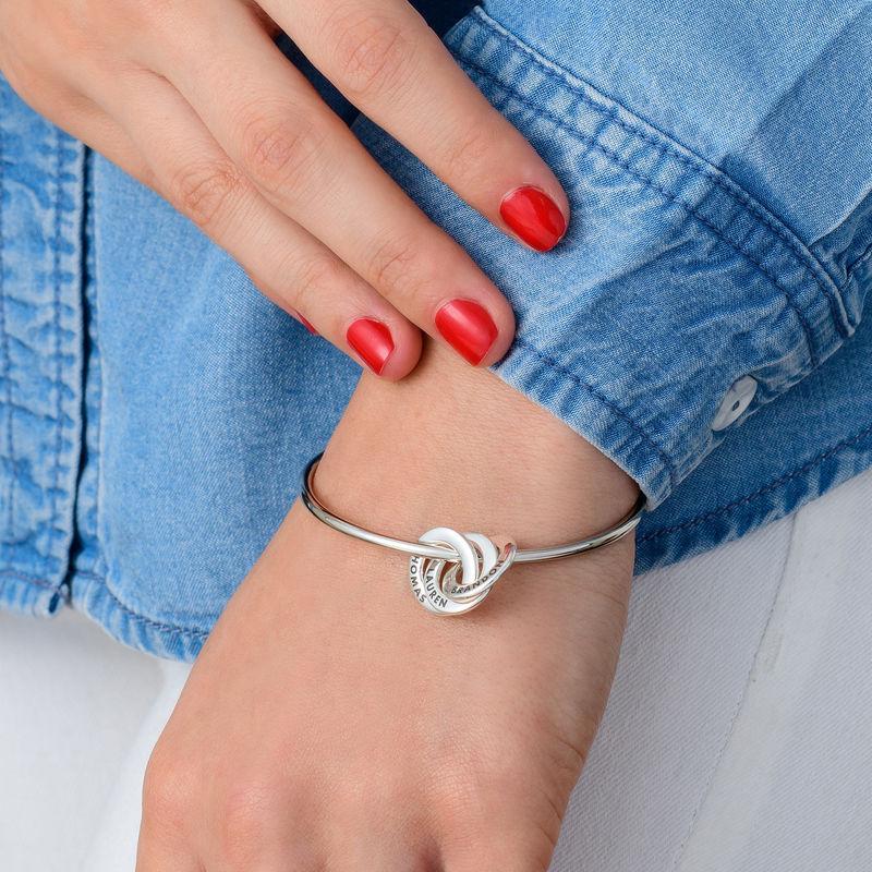 Silberner Armreif mit russischen Ringen - 2