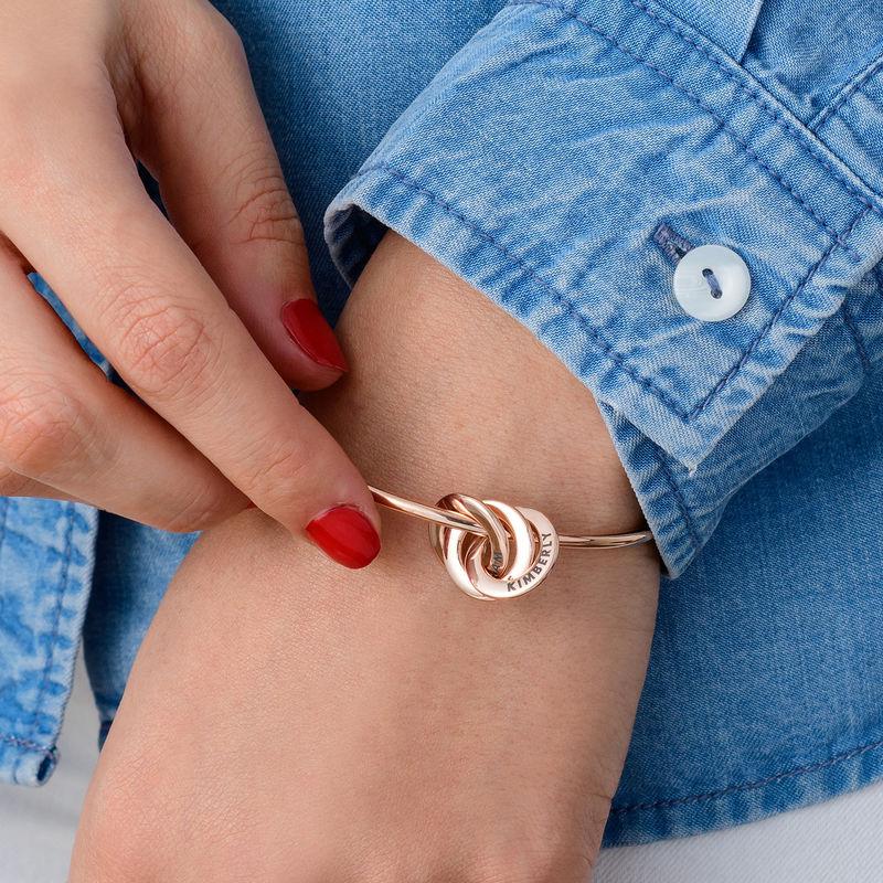 Armreif mit russischen Ringen und Rosévergoldung - 2