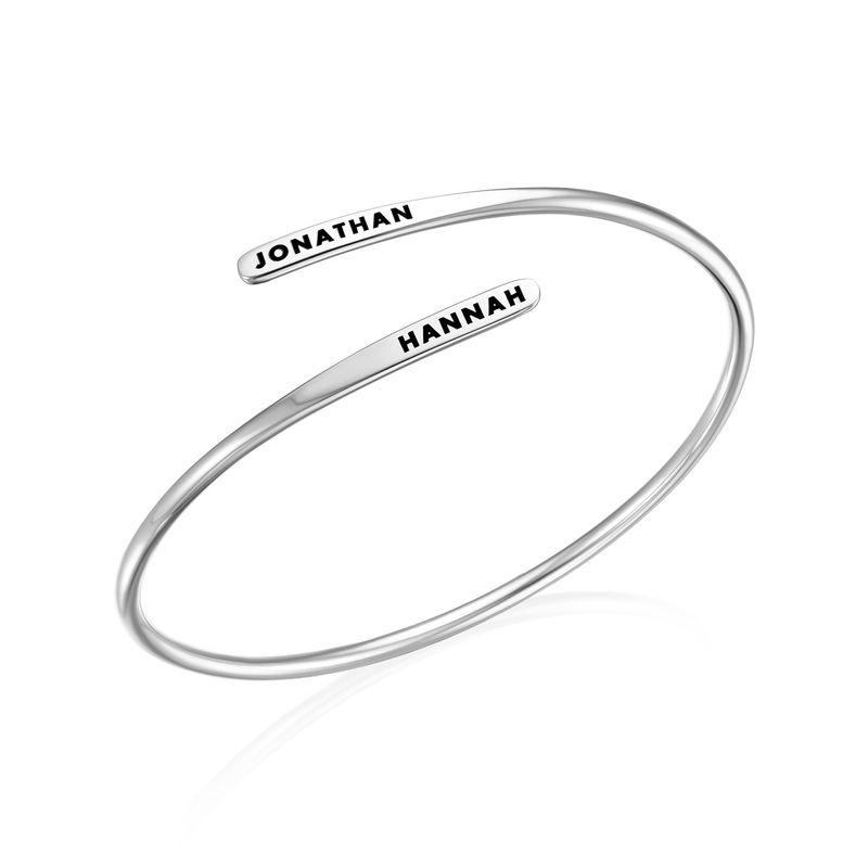 Manschettenarmband mit Gravur aus Silber - 1