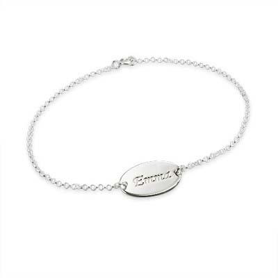 Graviertes 925er Sterling Silber Baby Armband