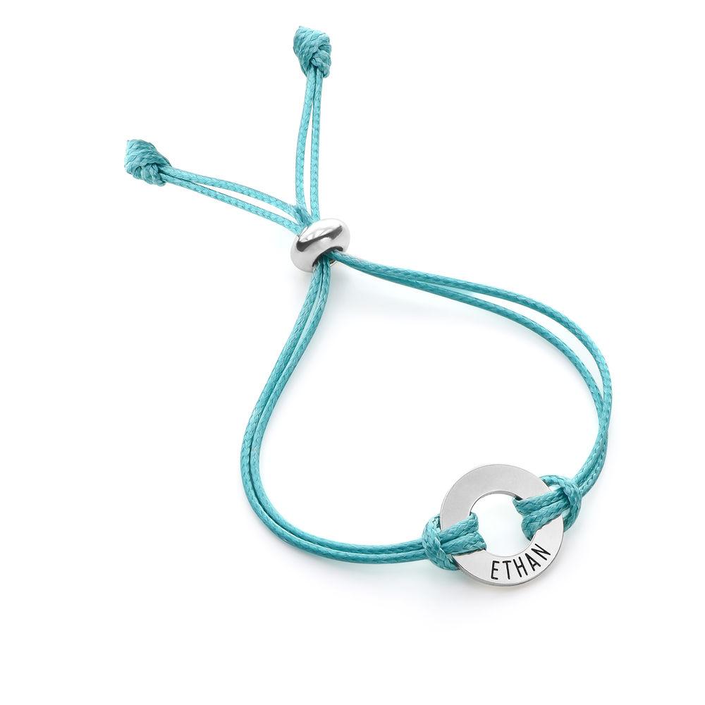 ID Wax Cord Armband aus Sterlingsilber für Kinder - 1