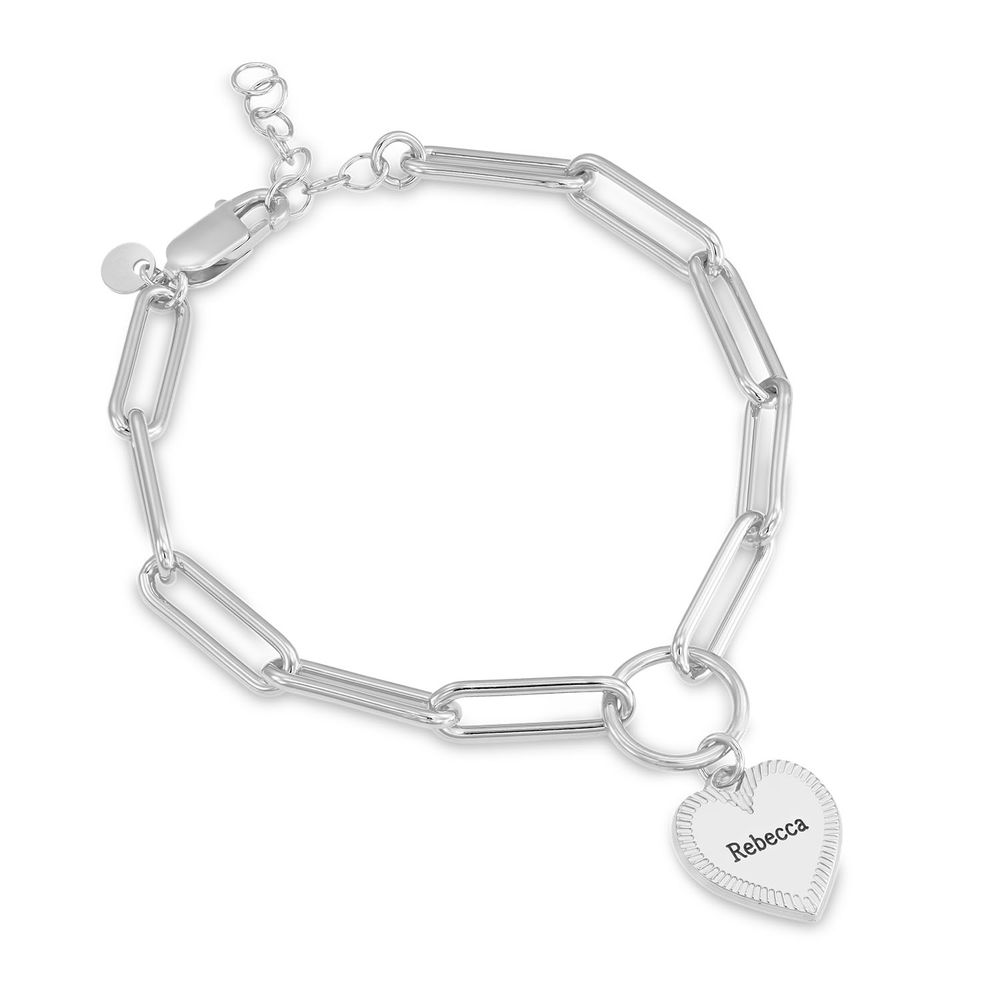 Herz Gliederarmband aus Silber