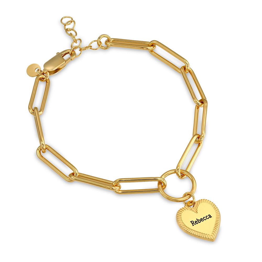 Herz Gliederarmband aus Vergoldung