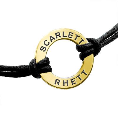 Personalisiertes Infinity-Armband mit Gravur vergoldet - 1