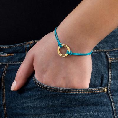Personalisiertes Infinity-Armband mit Gravur vergoldet - 2