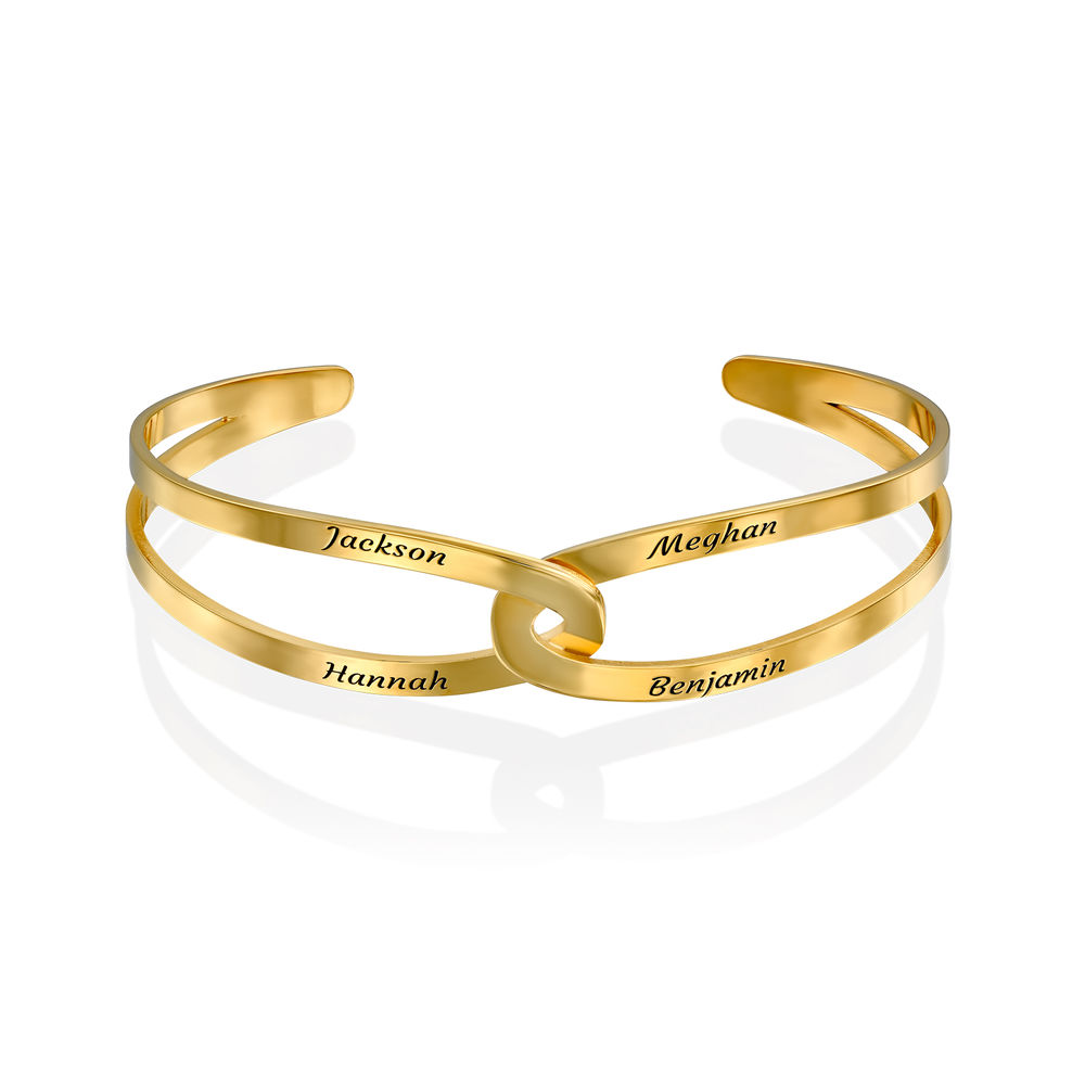 Hand in Hand - personalisierter Armreif aus 750er vergoldetes 925er Silber