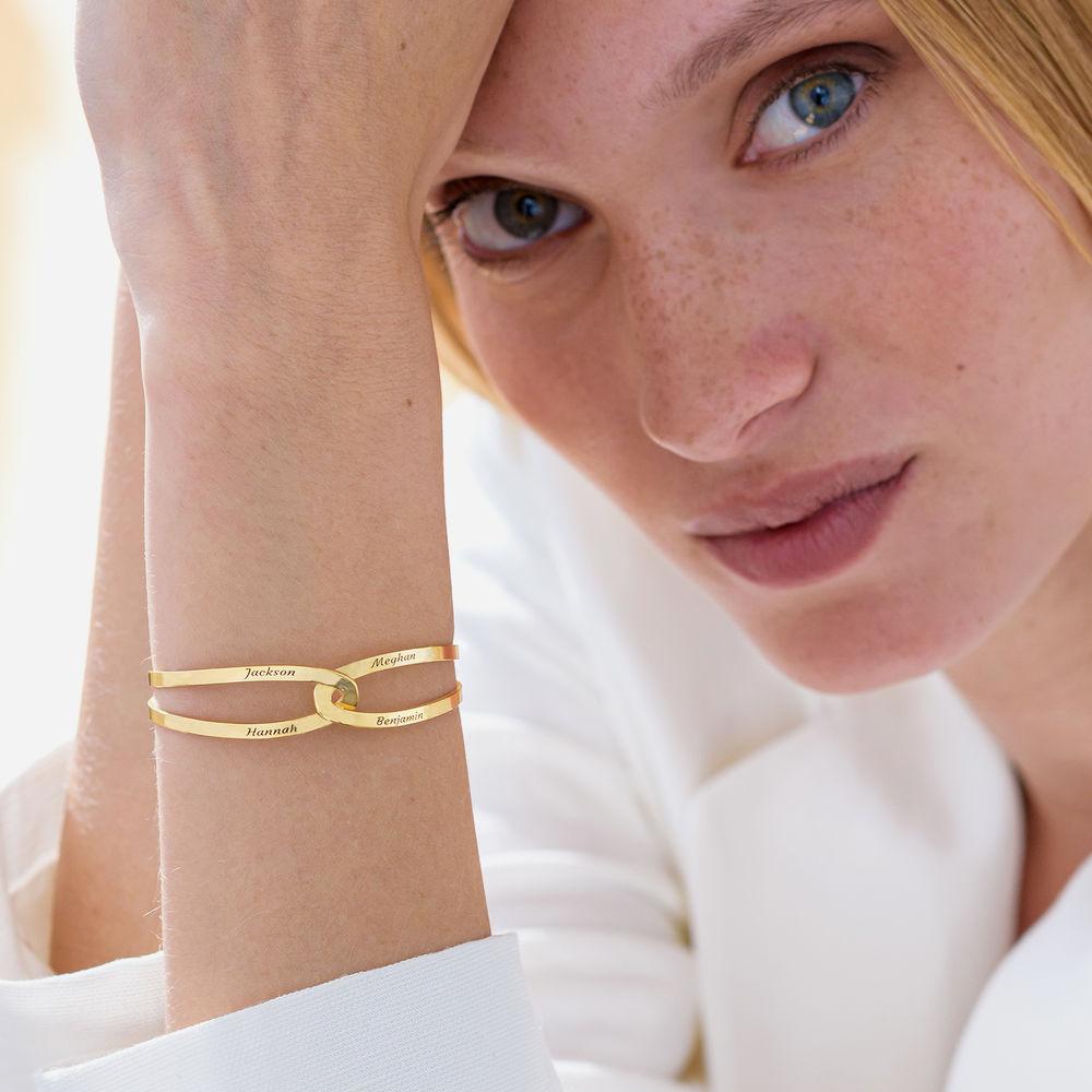 Hand in Hand - personalisierter Armreif aus 750er vergoldetes 925er Silber - 4