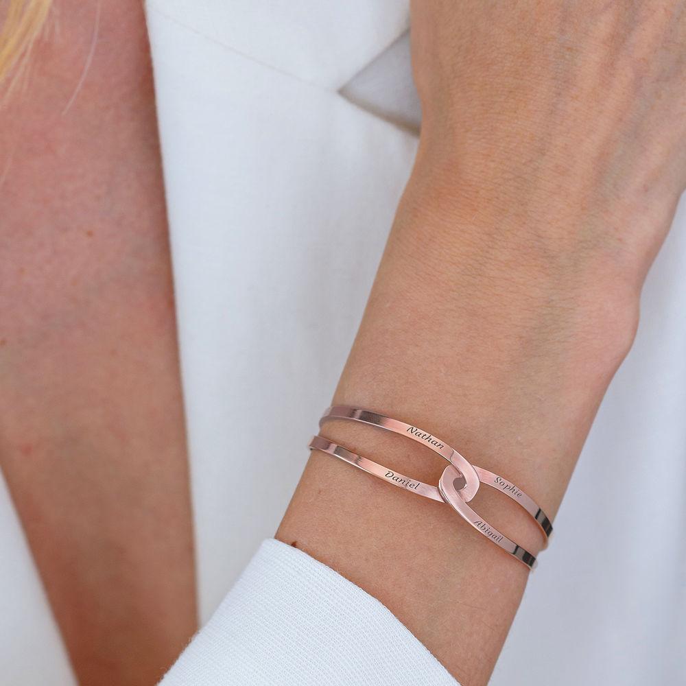 Hand in Hand - personalisierter Armreif aus Rosévergoldetes 925er Sterling Silber - 7