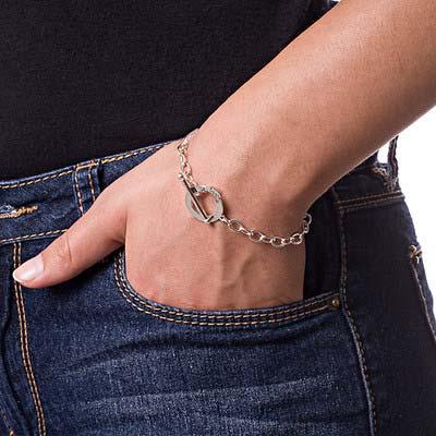 925er Silber Armband mit Ankerverschluß und Wunschgravur - 2