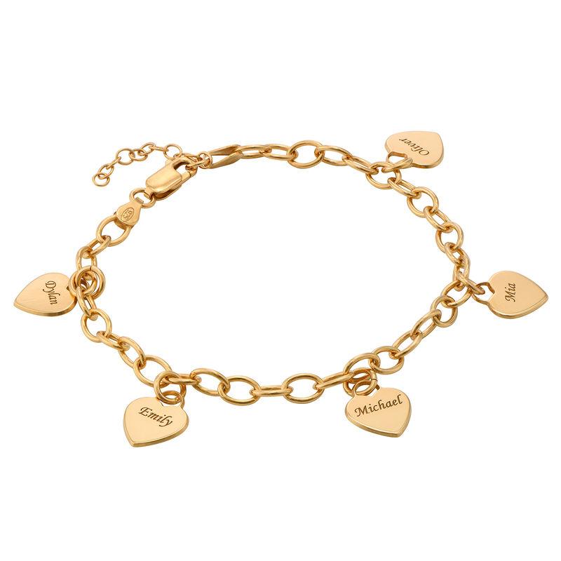 Gold-Vermeil Gravierbares Armband mit Herz Anhänger