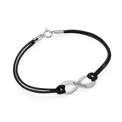 Infinity - Unendlich Armband mit Wunschgravur