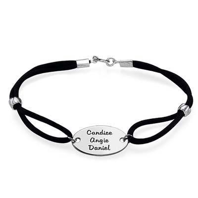 Armband mit Gravur und  ovaler Scheibe - 1
