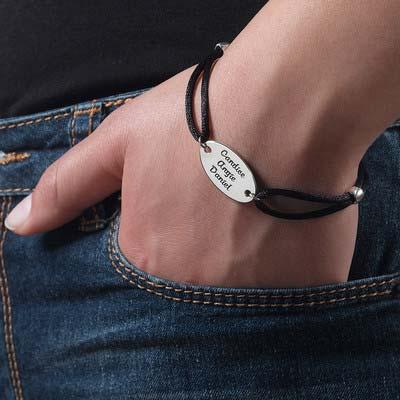 Armband mit Gravur und  ovaler Scheibe - 3