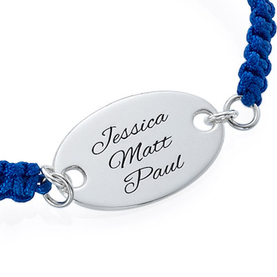 Armband mit ovaler gravierbarer Scheibe - 1