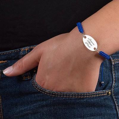 Armband mit ovaler gravierbarer Scheibe - 2