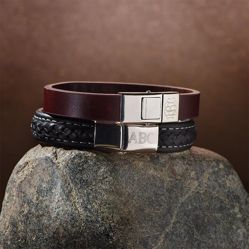 Männer Armband mit Initialien - 2