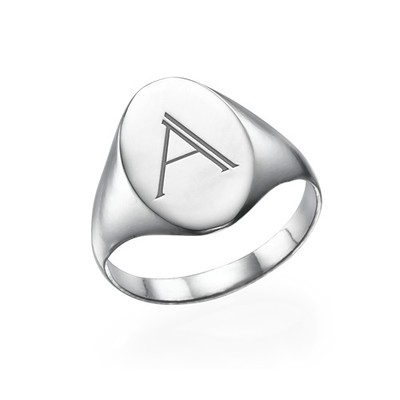 Initialensiegelring aus Sterling Silber