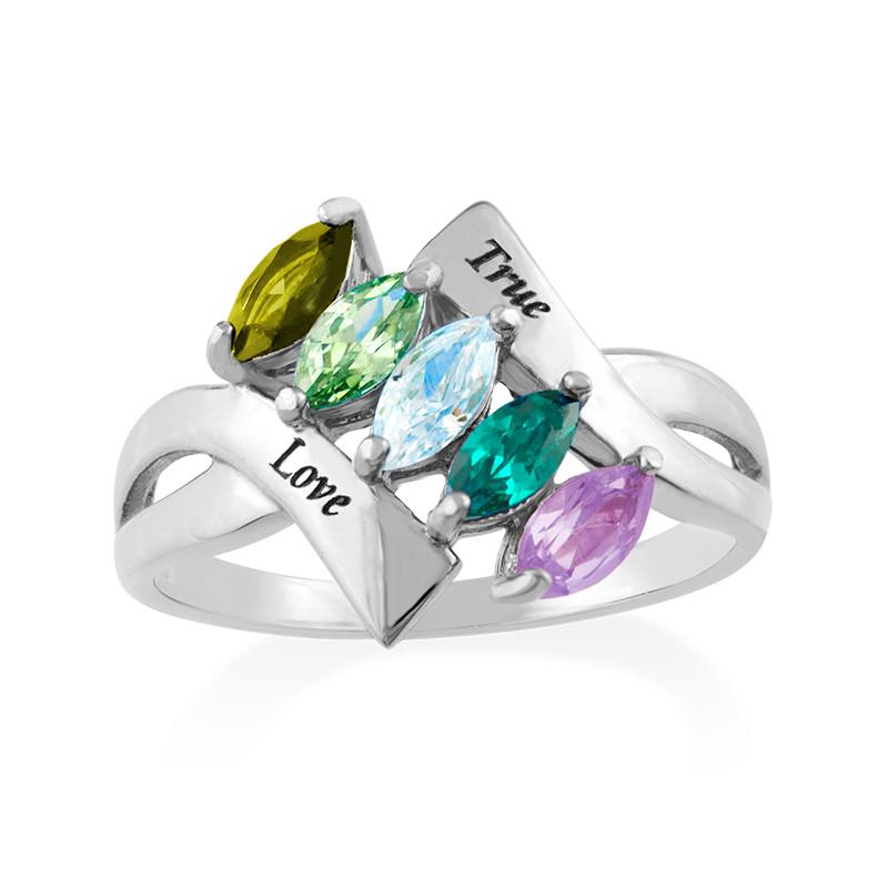 Geburtstein-Ring für Mütter - 1