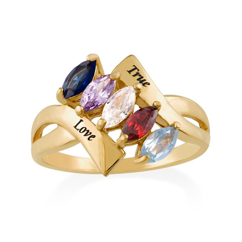 Vergoldeter Geburtsstein-Ring für Mütter - 1