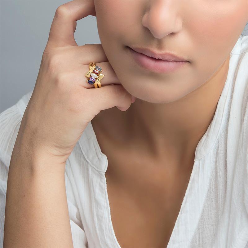 Vergoldeter Geburtsstein-Ring für Mütter - 2