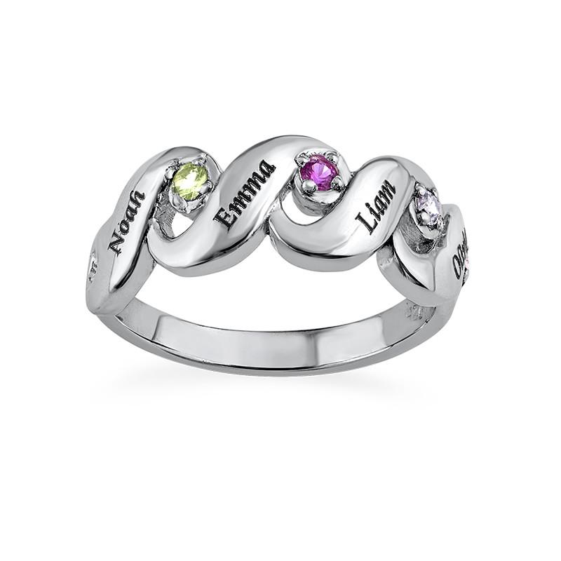 Mütter Ring mit vier Geburtssteinen - 1