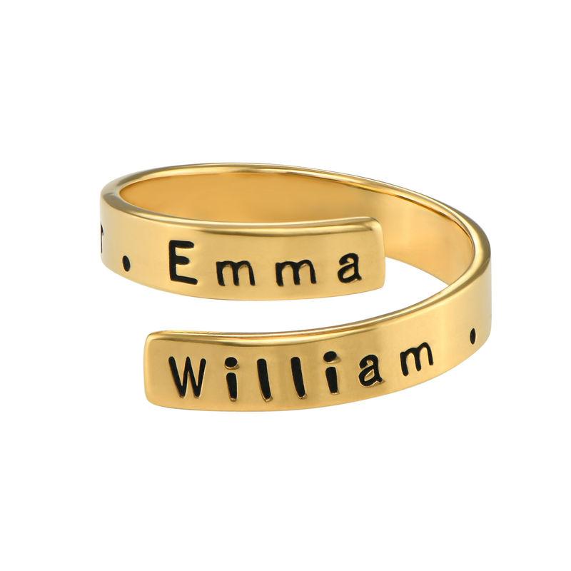 Vergoldeter Ring mit Gravur - 1