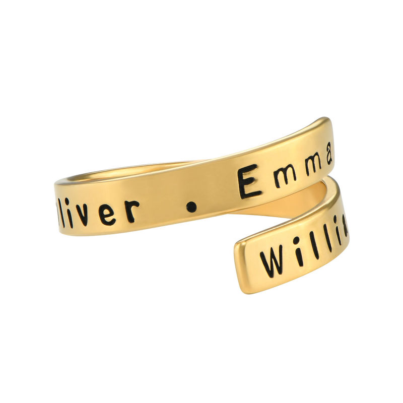 Vergoldeter Ring mit Gravur - 2