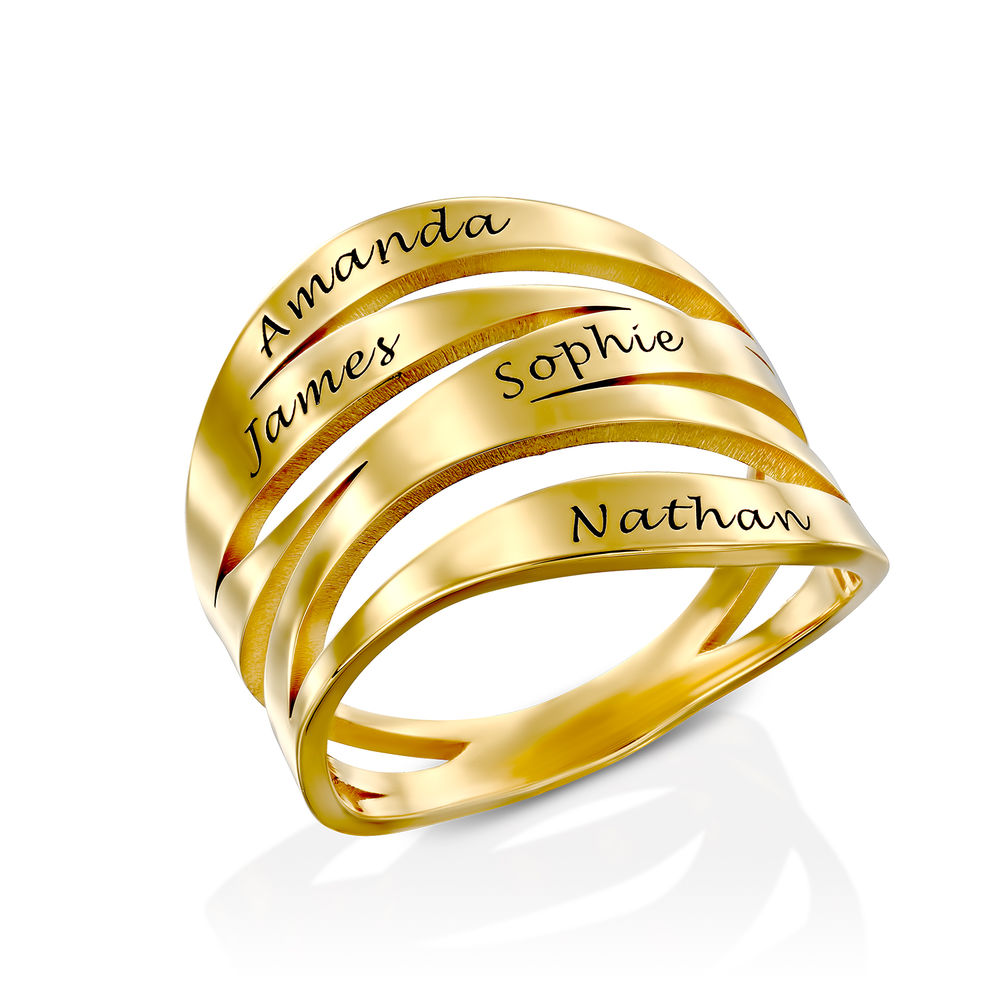 Margeaux Ring mit Namen - mit 750er Vergoldung