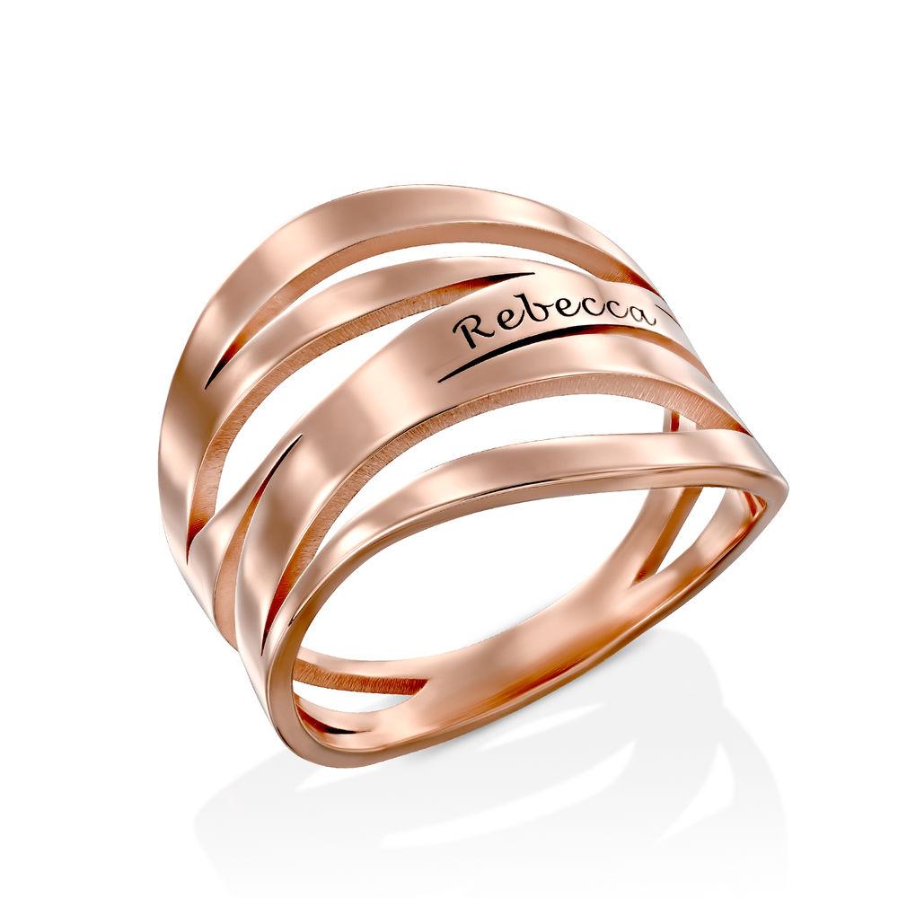 Margeaux Ring mit Namen - mit 750er Rosévergoldung