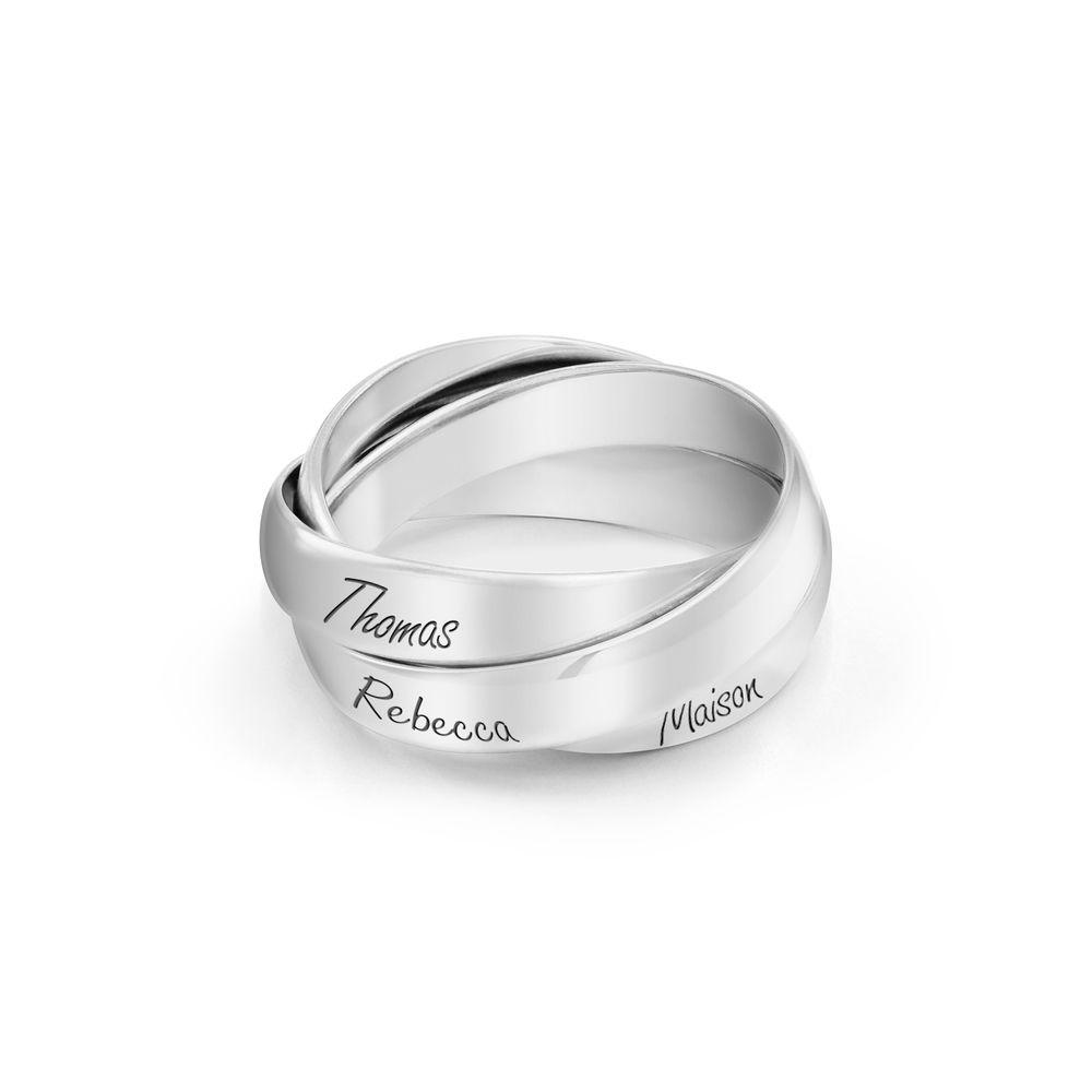 Charlize Russischer Ring aus 925er Sterling Silber