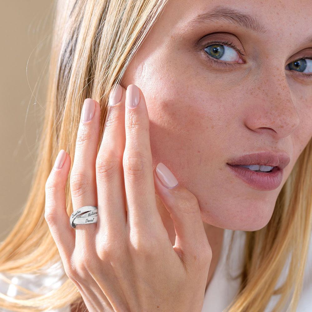 Charlize Russischer Ring aus 925er Sterling Silber - 3