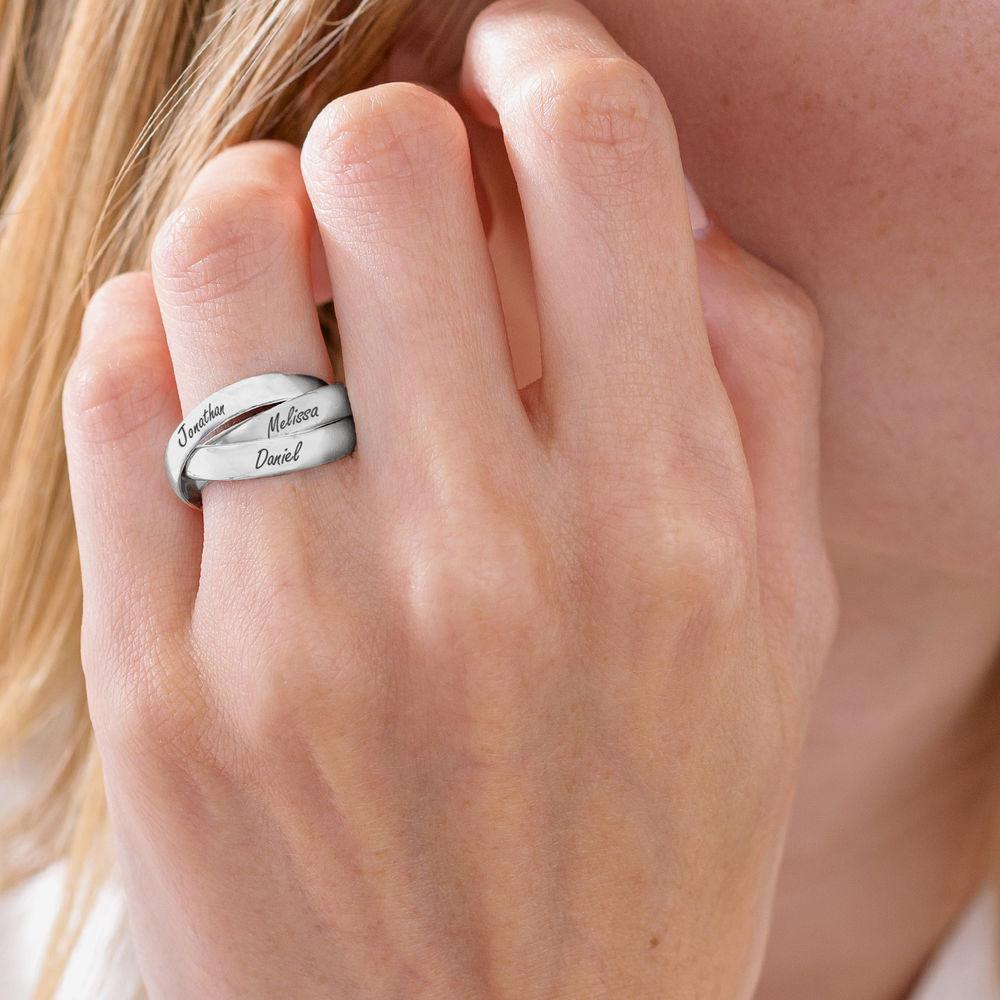 Charlize Russischer Ring aus 925er Sterling Silber - 4