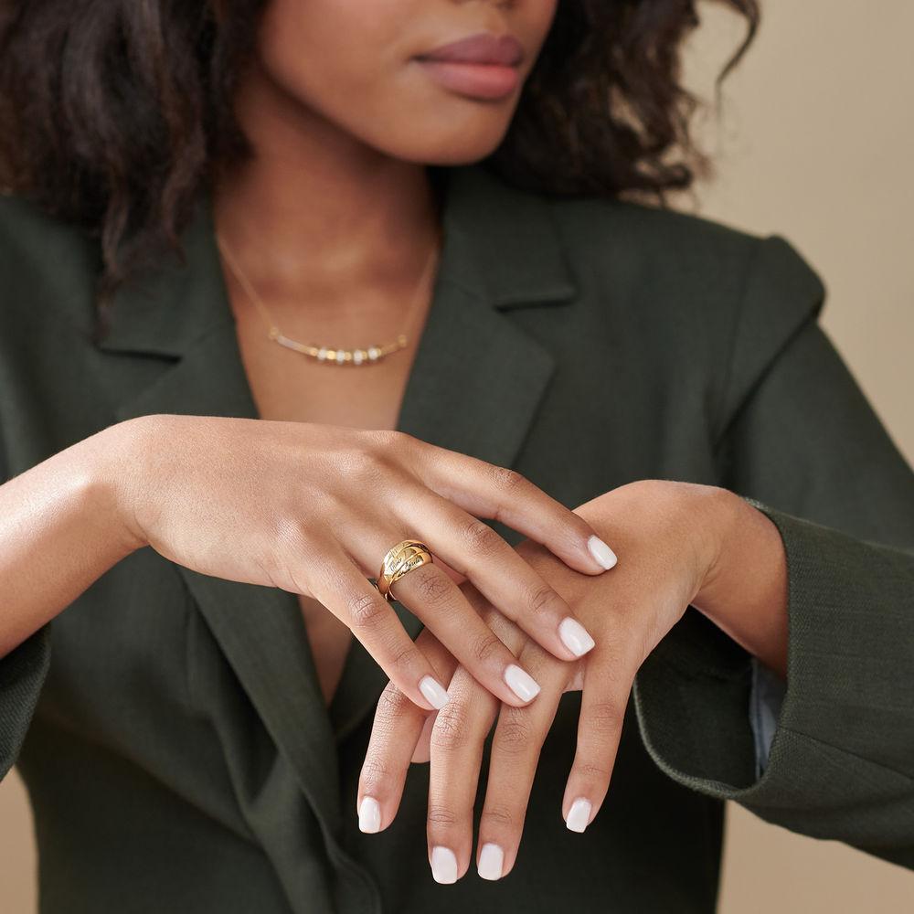 Charlize Russische Ring aus 750er vergoldetes 925er Silber - 3