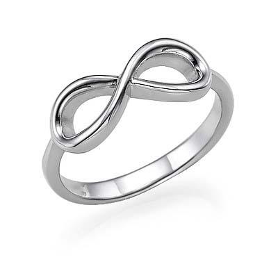 925er Silber Infinity-Unendlich Ring