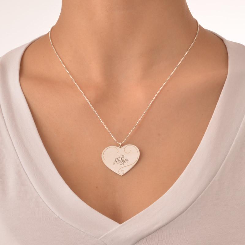 Gravierbare Herzanhänger - Mutter-Tochter Schmuck - 4