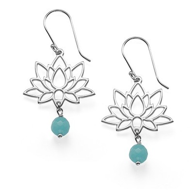 Lotusblüten-Ohrringe aus Sterling Silber - 1