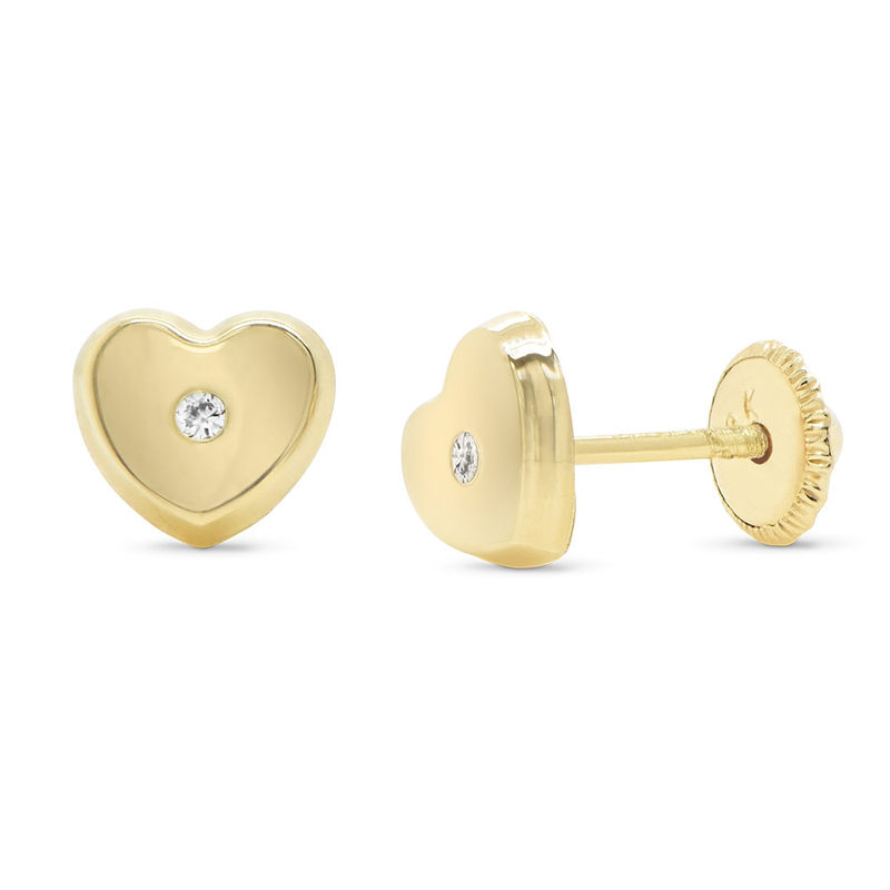 Herz-Ohrstecker aus 417er-Gold