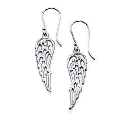 Engelsflügel Ohrringe in Silber