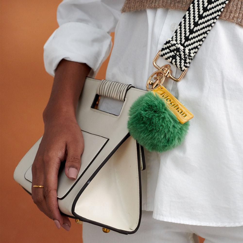 Personalisierter Pompon & Handtaschenanhänger - 5