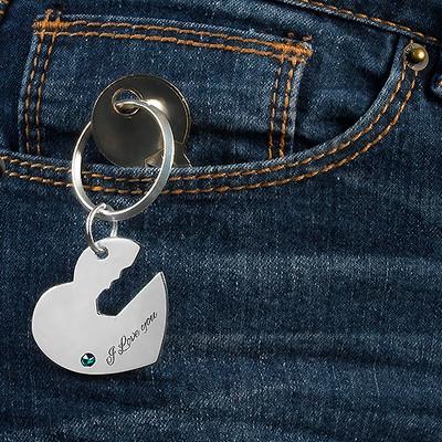 Schlüsselanhänger mit Herz und Schlüssel für Pärchen - 3