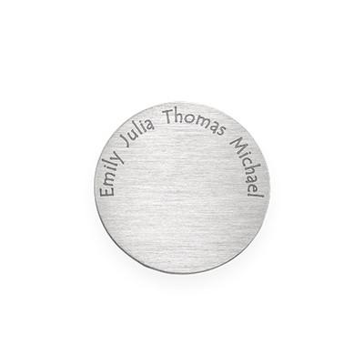 Gravierbares Plättchen für Charm Medaillon - Silber