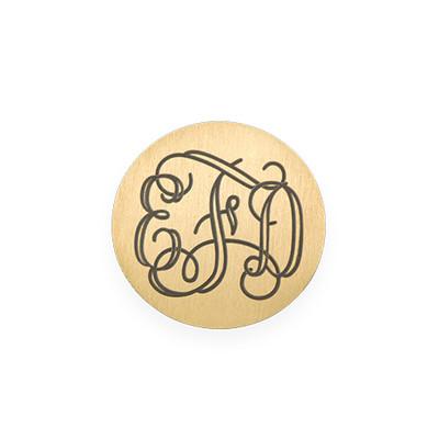 Gravierbares Monogramm Plättchen für Charm Medaillon