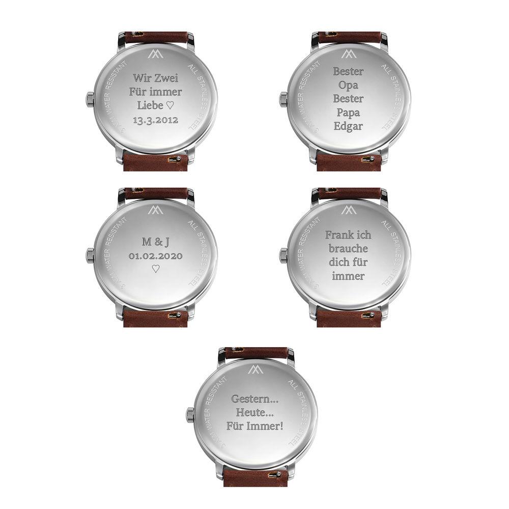 Odysseus Edelstahluhr mit Datumsanzeige in Minimal Design für Herren - 6