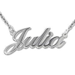 925er Silber Namenskette in Druckschrift- Klassik product photo