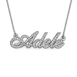 Individualisierte Diamant-Namenskette aus 585er Weißgold (14 Karat) product photo