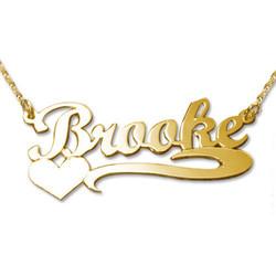 585 Gold Namenskette mit Herz Produktfoto