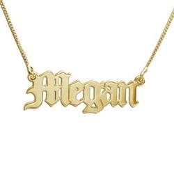 Namenskette aus 585er-Gold im altenglischen Stil product photo